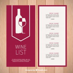 wine list template modern wine list template