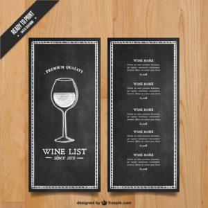 wine list template wine list template