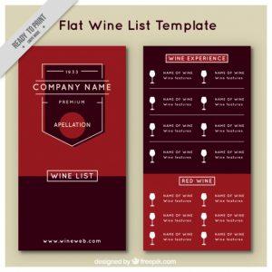 wine list template wine list template in flat style