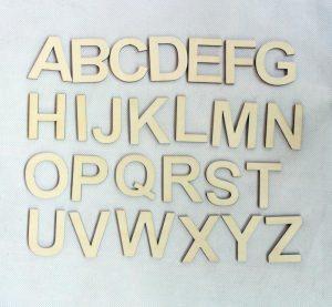 wooden alphabet letters letters pcs lot mm wooden alphabet letter set unfinished rustic wood letters a z ct