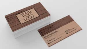 woodworking business cards retro wooden business card