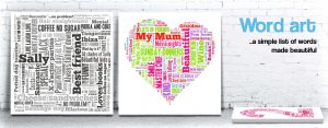 word art design word art designs printed on canvas