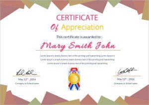 word certificate template appreciation certificate template