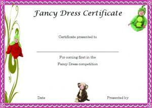 word certificate template fancy dress winner certificate template