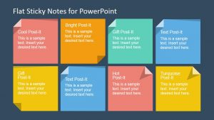 word flowchart template flat sticky notes