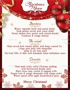 word flyer templates christmas menu template free sample example format download intended for christmas menu template word