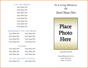 word flyer templates obituary template free