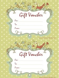 word invitation template gift vouchers
