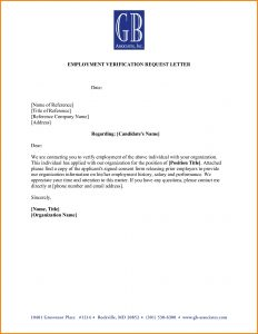 word letter template doc sample employee verification letter employment with regard to employment verification letter template word