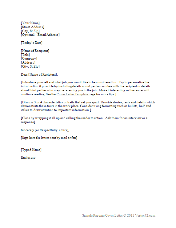 word letter template