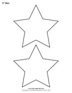 word map template star stencil