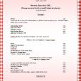 word menu template office menu template
