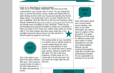 word newsletter template free printable newsletter templates min