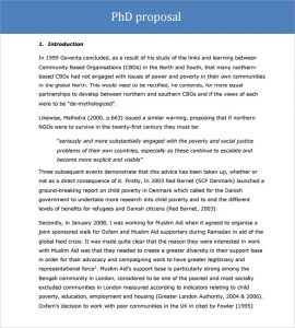 word proposal template phd proposal template word