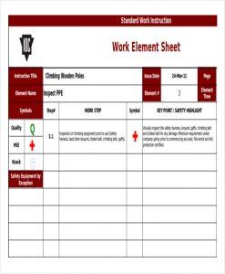 work instruction template standard work instruction template