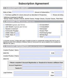 work order template word subscription agreement example