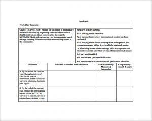 work plan template work plan template free download