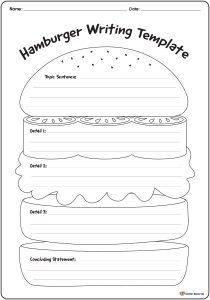 work sheet templates teachingresource hamburgerwritingtemplate
