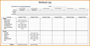 workout journal template workout diary free workout log template