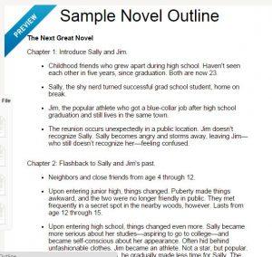 writing a book outline outline