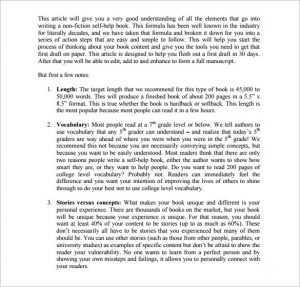 writing a book outline self help book outline template example
