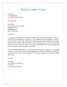 writing a formal letter formal business letter