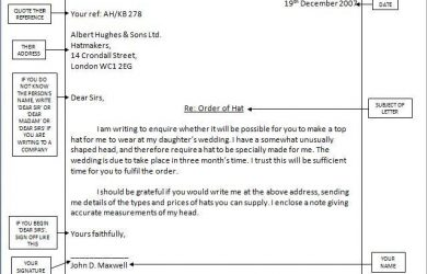 writing a formal letter formal
