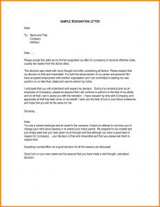writing a letter format how to write letter of resignation