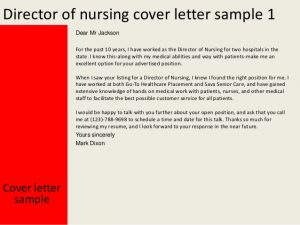 writing a letter of intrest director of nursing cover letter