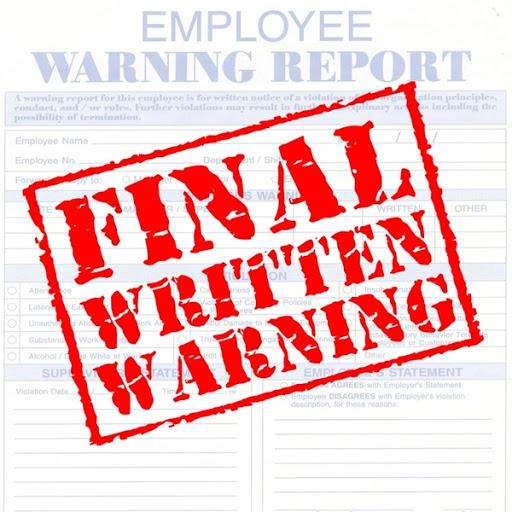 written warning form