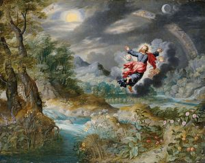 written warning form creation of the world painting by brueghel