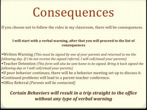 written warning form first day power point
