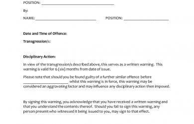 written warning template written warning template xpahlzv