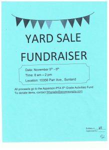 yard sale flyer template yard sale flyer