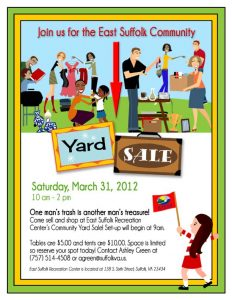 yard sales flyers comeall
