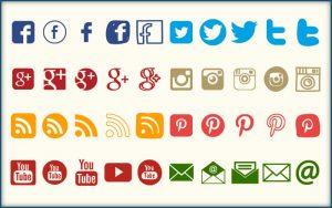 youtube banner design social media icons graphics