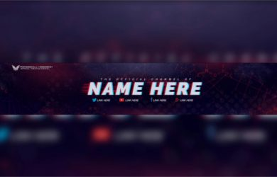 youtube banner template download purple grunge free youtube banner psd template download